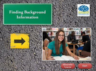 Finding Background Information tutorial cover image