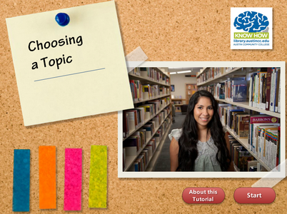 Choosing a topic tutorial cover image